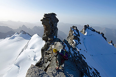 Europe, Italy, Aosta Valley, Gran Paradiso National Park, Gran Paradiso, 4061m, highest peak entirely in Italy - p652m716777 by Christian Kober