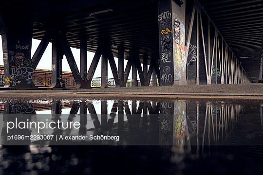 Old bridge in Hamburg - p1696m2293007 by Alexander Schönberg