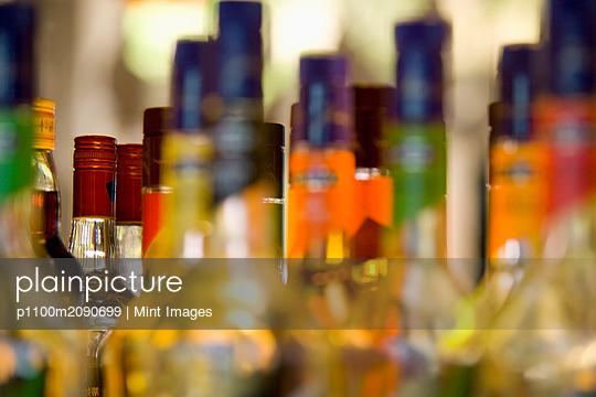 Liquor Bottles - p1100m2090699 by Mint Images