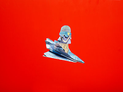 Paper airplane, Money - p801m2065390 by Robert Pola