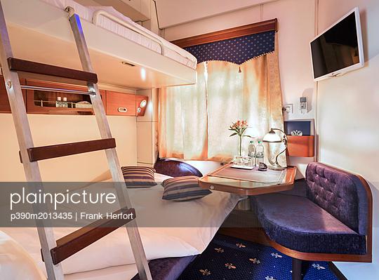 Trans Siberian Railway Express Train Interior - p390m2013435 by Frank Herfort
