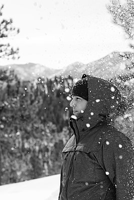 Man in Colorado Snow - p1262m1110427 by Maryanne Gobble