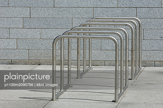Empty Bicycle Rack - p1100m2090756 by Mint Images
