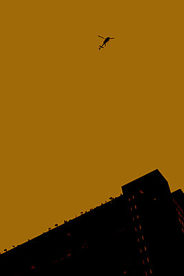 Helicopter over London - p1028m2044067 by Jean Marmeisse