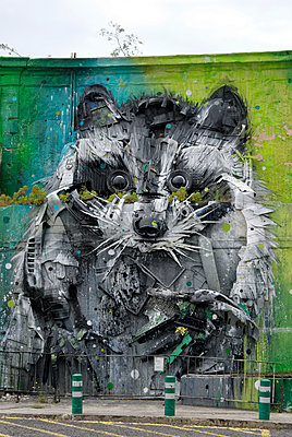 Giant hamster as graffiti theme - p260m1161245 by Frank Dan Hofacker