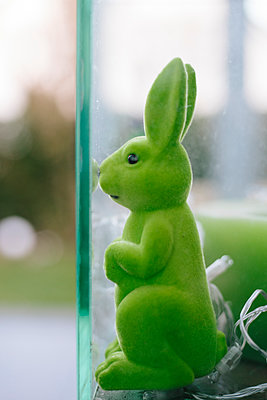 Green rabbit - p1621m2263329 by Anke Doerschlen
