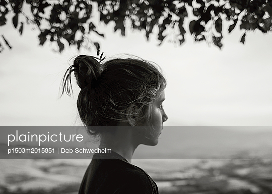 Girl Watching in Tuscany - p1503m2015851 by Deb Schwedhelm
