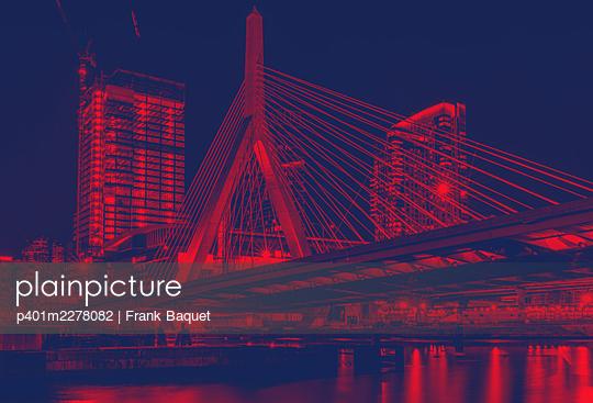 Zakim Bunker Hill Memoriam Brücke Boston Massachusetts - p401m2278082 von Frank Baquet