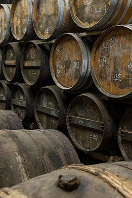 Barrels in winery cellar - p1216m2260516 von Céleste Manet