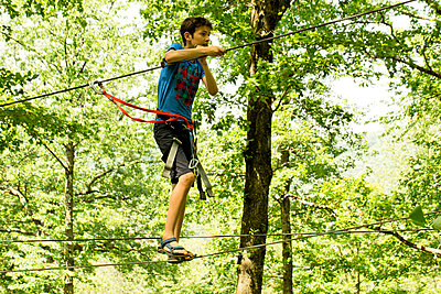 Ropes course - p445m1051408 by Marie Docher