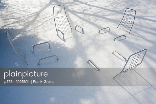 Outdoor chairs buried in sw - p378m2235821 by Frank Gross