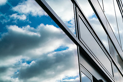 Reflection, window, clouds and sky - p300m1156871 by A. Tamboly