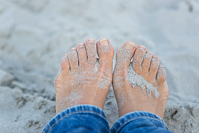 Sand between the Toes - p441m1092626 by Maria Dorner