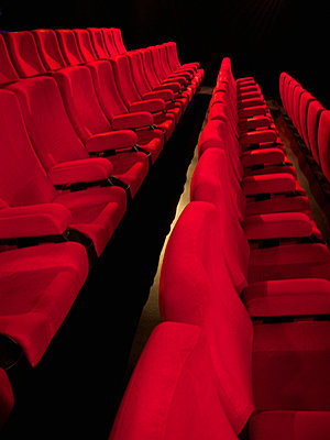 Row of seats of cinema - p813m916240 by B.Jaubert