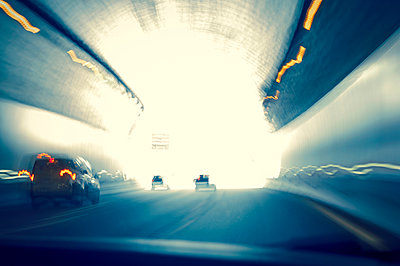 Light in a tunnel - p470m1043004 by Ingrid Michel