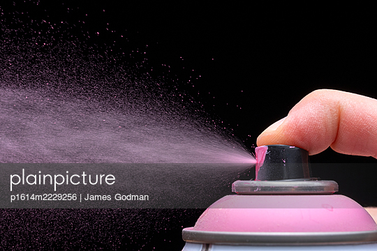 Spray paint can nozzle with spray - p1614m2229256 by James Godman