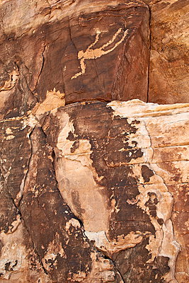 Falling Man petroglyph, Gold Butte, Nevada, United States of America, North America - p871m962036f by James Hager