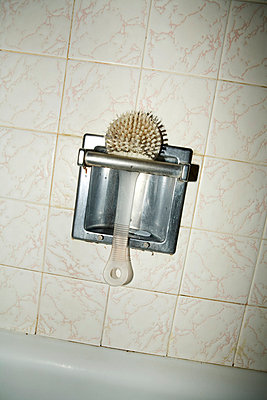 Toilet brush, overhead view - p4341815 by Alin Dragulin