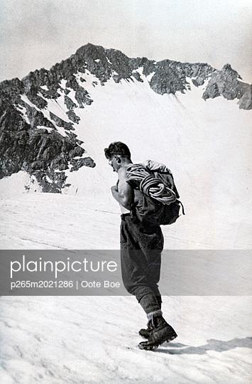 Bergsteiger in den Alpen - p265m2021286 von Oote Boe