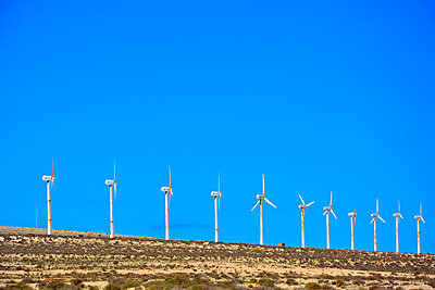 wind power plant fuerteventura - p876m1146134 by ganguin