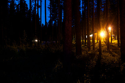 Camping site at night - p5862016 by Kniel Synnatzschke