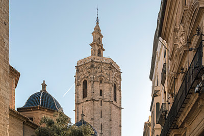 Spain, The Tower El Micalet of the cathedral of Valencia - p1332m2204573 by Tamboly