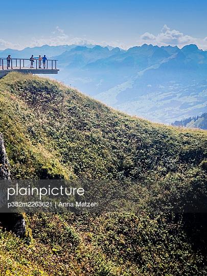 Viewing platform on the summit - p382m2263621 by Anna Matzen