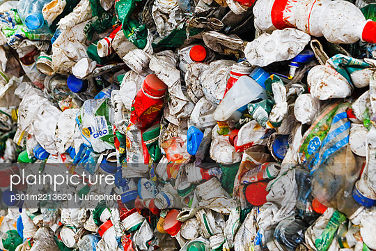 Recycled plastic bottles - p301m2213620 by Junophoto