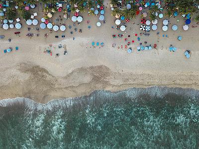 Indonesia, Bali, Aerial view of Padma beach - p300m2042448 by Konstantin Trubavin