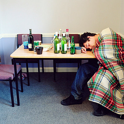 Collapsed drunk boy - p92410641f by Image Source