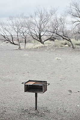Barbecue area, Bruneau Dunes State Park, Idaho, USA - p706m2158464 by Markus Tollhopf