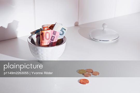 Saving money in a sugar bowl - p1149m2263055 by Yvonne Röder
