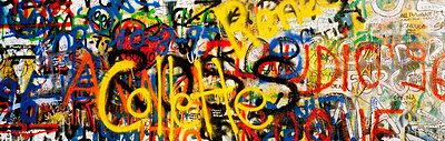 Windmill Lane, Dublin, Co Dublin, Ireland; Graffiti on the U2 Wall - p4428907 by The Irish Image Collection
