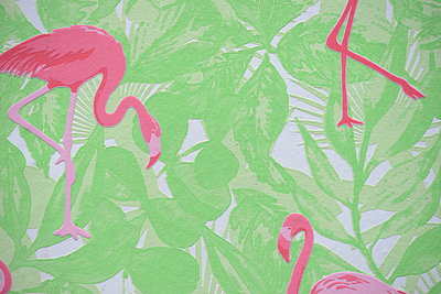 Wallpaper with flamingo pattern - p1229m1584624 by noa-mar