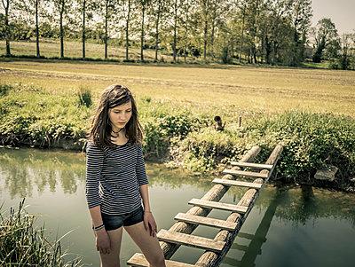 Little bridge - p1402m2195791 by Jerome Paressant