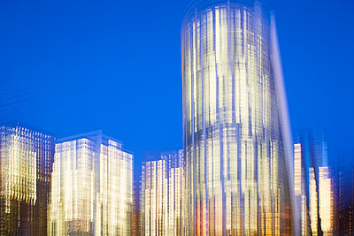 Illuminated office buildings - p464m2157777 by Elektrons 08