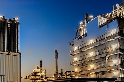 Chemical industrial plant - p401m2228370 by Frank Baquet