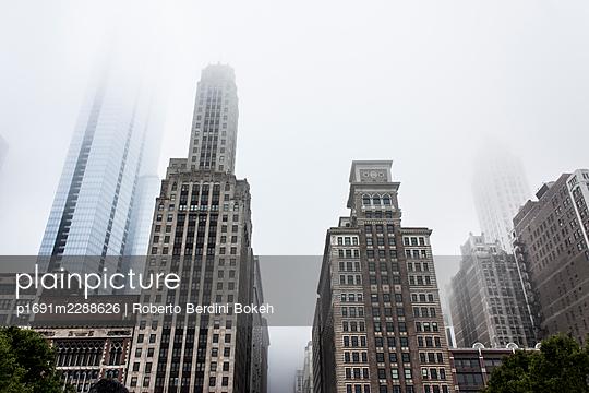 Historic skyline Chicago - p1691m2288626 by Roberto Berdini Bokeh