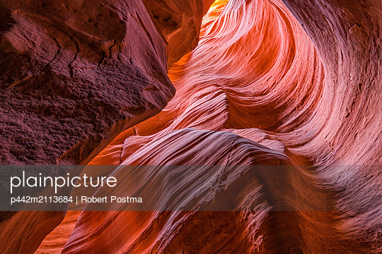 Slot Canyon known as Canyon X, near Page; Arizona, United States of America - p442m2113684 by Robert Postma
