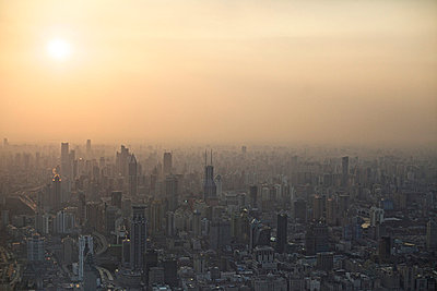 Evening over Shanghai - p1980249 by David Breun