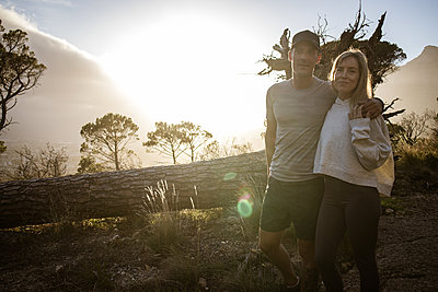 Couple goes on an excursion at sunset - p1640m2261007 by Holly & John
