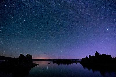 Starry sky at night, mono lake, california, usa - p924m711172f by Pete Saloutos