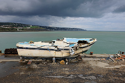 Broken boat - p1048m1069219 by Mark Wagner