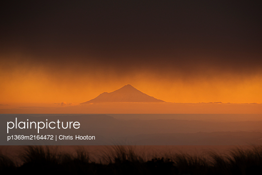 View of Mount Taranaki at Sunset - p1369m2164472 by Chris Hooton