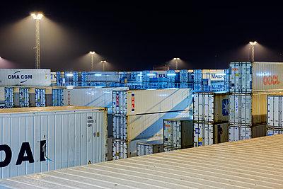 Lagerung von Kühlcontainern, Containerterminal Bremerhaven - p1099m1515537 von Sabine Vielmo
