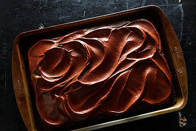 chocolate sheet cake - p1379m1525444 by James Ransom