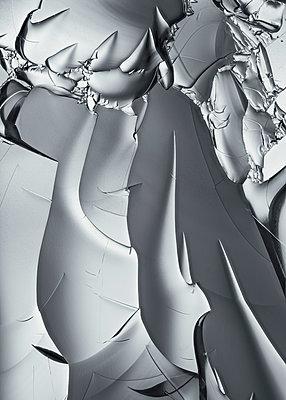 Layers of ice, macro photography - p1652m2230689 by Callum Ollason