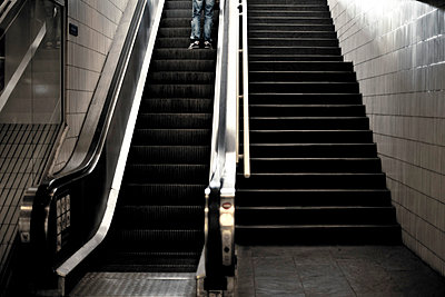 Escalator - p445m791930 by Marie Docher