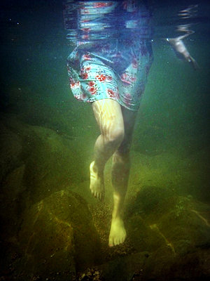 Walking Underwater in Dream - p1019m831426 by Stephen Carroll