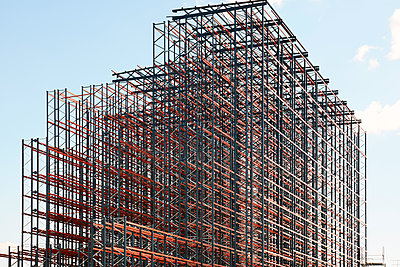 Constructing high rack storehouse - p719m1333199 by Rudi Sebastian